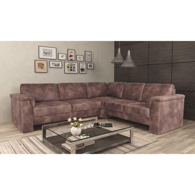 Rocambolesk Canapé Kos 2,5A2 Tobago 15 dunkel brun angle droit sofa divan