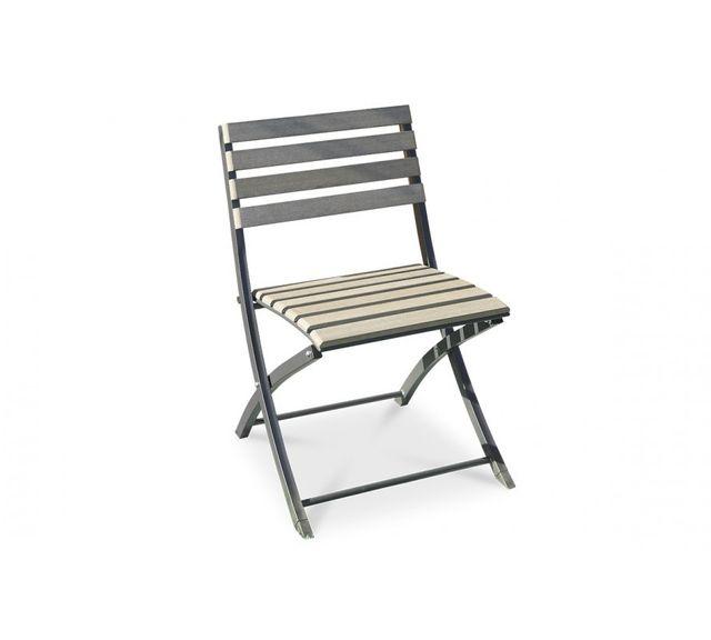 Dcb Garden Chaise pliante acier et composite