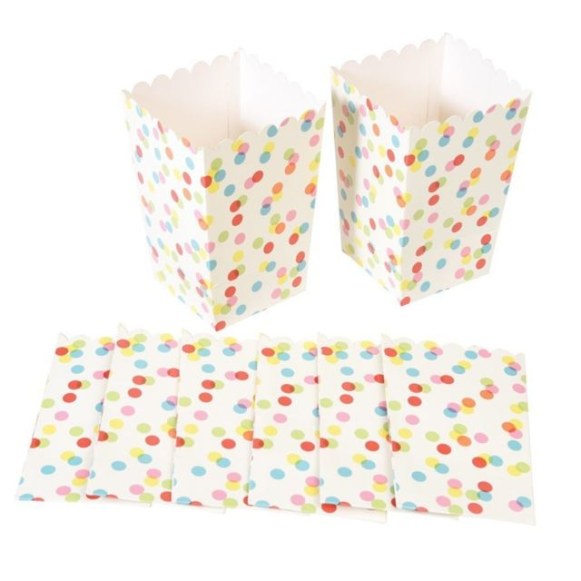 Dotcomgiftshop Set de 8 Mini Sachets à Pop Corn