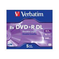 VERBATIM - DVD P5 DVD+R 8,5 Go 8X Double c