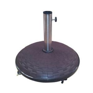 pied de parasol sur roulettes coloris marron pas cher. Black Bedroom Furniture Sets. Home Design Ideas
