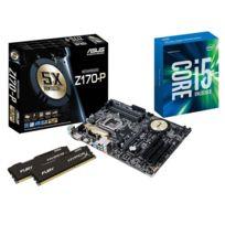 RUE DU COMMERCE - Kit EVO Skylake - INTEL Core i5 6600K - ASUS Z170-P - 2x 4 Go DDR4 KINGSTON HyperX Fury 2133 MHz CAS 14