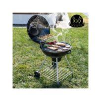 Bbq Classics - Barbecue à Charbon avec Couvercle et Roulettes Black