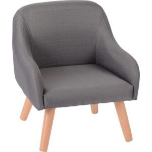 amadeus les petits fauteuil scandinave hanz gris pas cher achat vente fauteuils. Black Bedroom Furniture Sets. Home Design Ideas