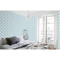 Lineawall - Adhésif mural décoratif Lara - 300 x 90 cm - Bleu