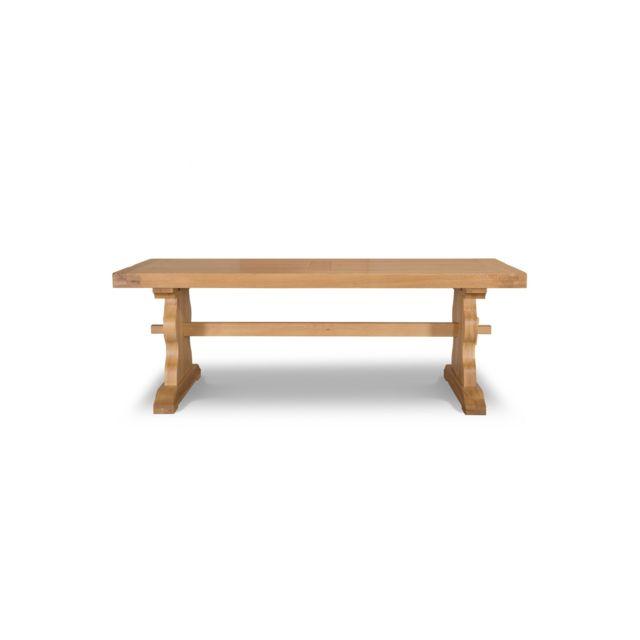 Hellin Table Monastere La Bresse Bois Chene Massif Pas Cher Achat Vente Tables A Manger Rueducommerce