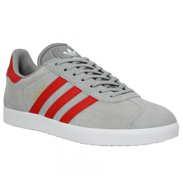 best website d1020 eb1b9 Adidas - Adidas Gazelle Homme-43 1 3-Gris Rouge