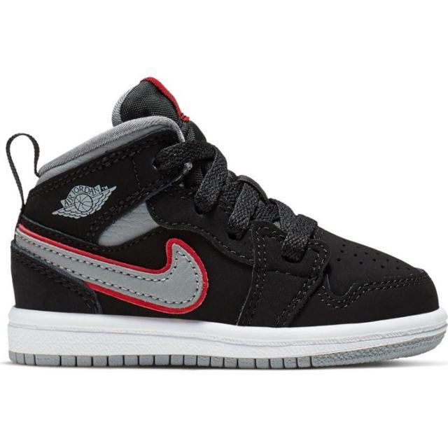 Jordan Chaussure de Basket Air 1 Mid TD, Noir pour bébé