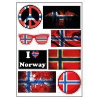 Mygoodprice - Planche A4 de stickers Norvege autocollant adhésif scrapbooking - D33