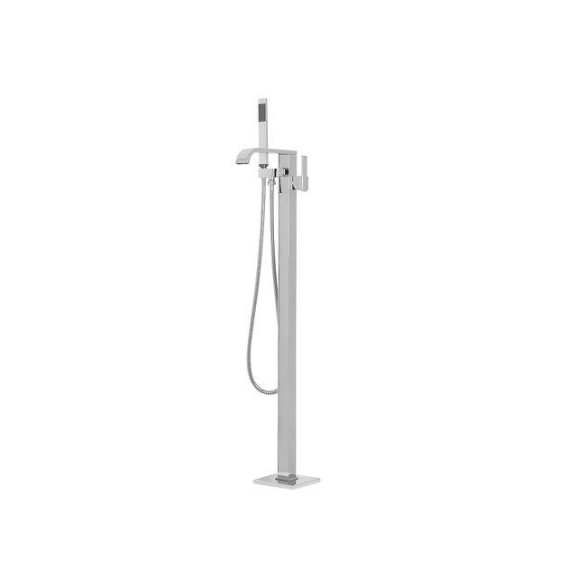 beliani robinet mitigeur autoportant colonne de baignoire lot robinetterie chrom e. Black Bedroom Furniture Sets. Home Design Ideas