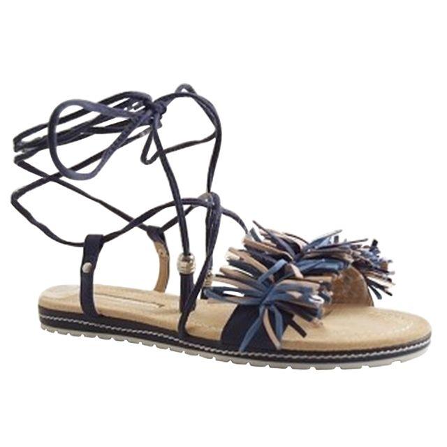 9086a426e0d7 Maria Mare - 66774-SANDALE A Lacage-bleu Marine - pas cher Achat   Vente  Chaussures de ville femme - RueDuCommerce