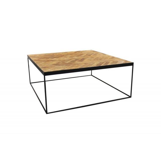 Meubletmoi Table basse carré en teck - Anna/M