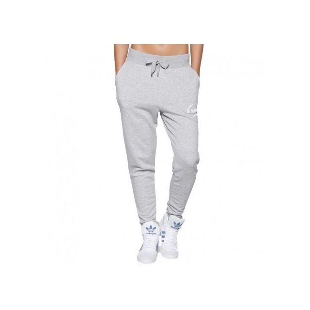 pantalon adidas gris homme
