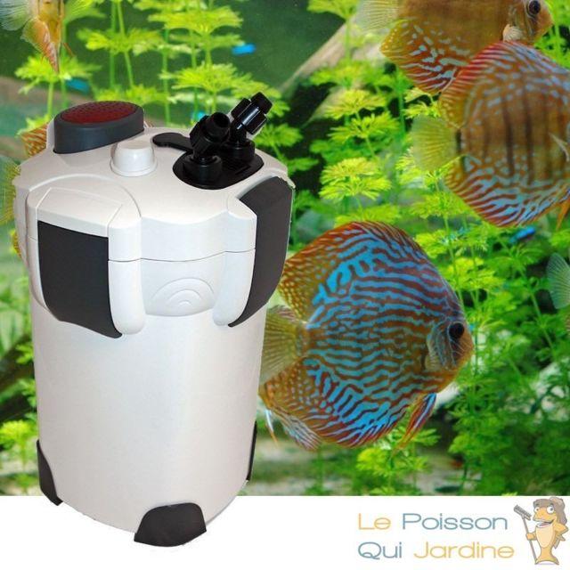 Le Poisson Qui Jardine Filtre Externe 2000 l/h pour aquarium eau douce et eau de mer : Avec accessoires