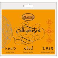 Aladine - 60211 - Loisirs CrÉATIFS - Cahier De Calligraphie Latine Sur Carte