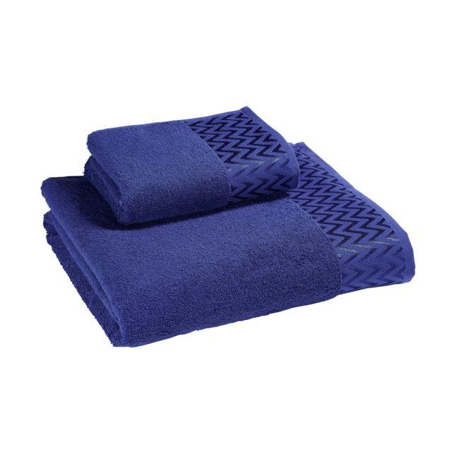 TEX HOME Drap de douche POLO en coton Drap de douche POLO en coton 70x140 cm - bleu foncé