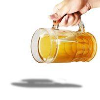 Chope de bière réfrigérante à double parois transparent