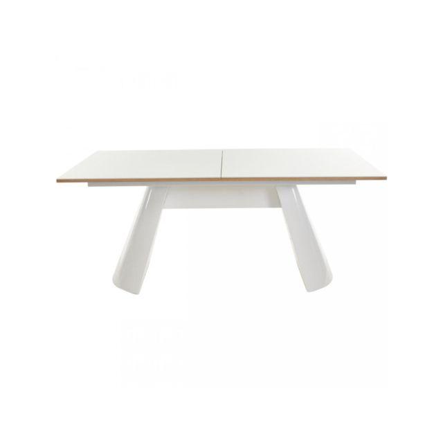 Bobochic Table de repas Collins Chêne et Blanc