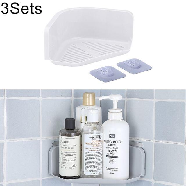 Wewoo - 3 ensembles de salle de bains cuisine coin étagère de ...