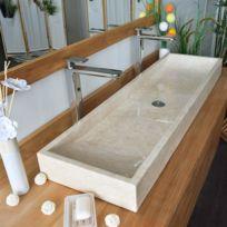 Ocean Line - Vasque à poser en marbre crème, Atlantica