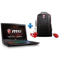 MSI - GE72VR 6RF-209XFR Apache Pro - Noir + Pack GE : Sac à dos + Porte-clé Dragon + Souris Gaming