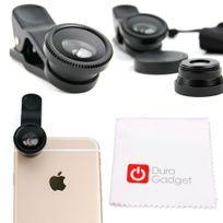 Duragadget - Pack de lentilles 3 en 1 pour Smartphone / tablette / portable - Fisheye, Grand Angle et Macro