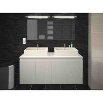 Meuble 2 vasque salle bain 120 cm - Achat Meuble 2 vasque salle bain ...