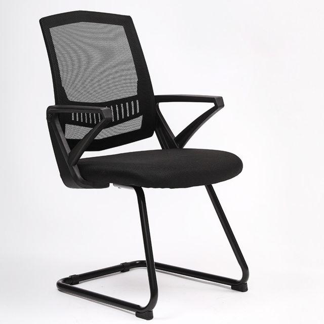 Wewoo To-329 chaise d'ordinateur de bureau de retour à la maison confortable de simple noire Frame Bow noir