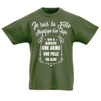 5c206b7a39c8a Stylx Design - T-shirt enfant humoristique kaki