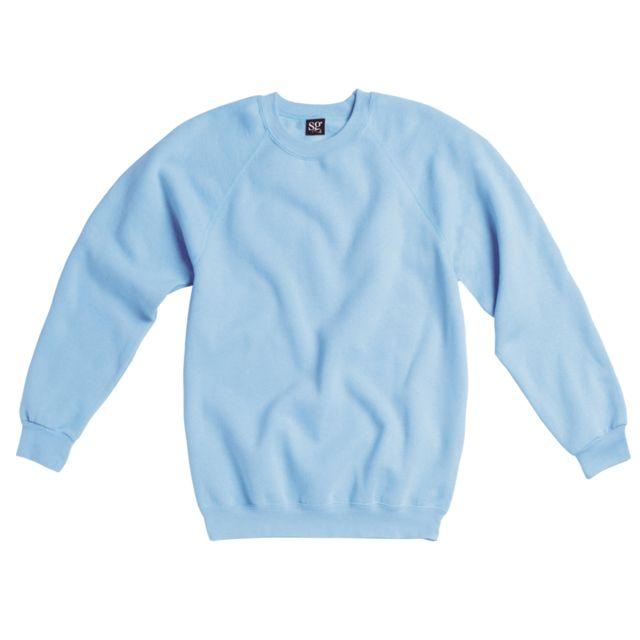 sweat shirt femme bleu ciel