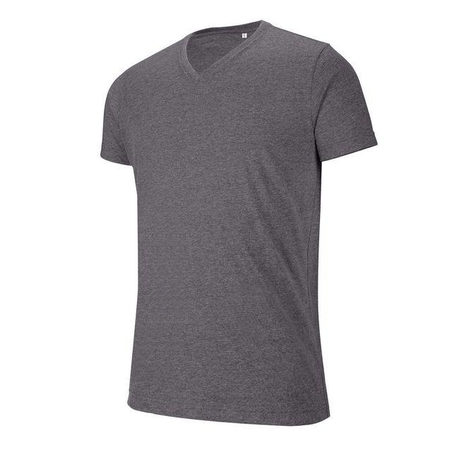 pas V courtes de T col shirt travail Kariban manches mélange XqO6Rzx