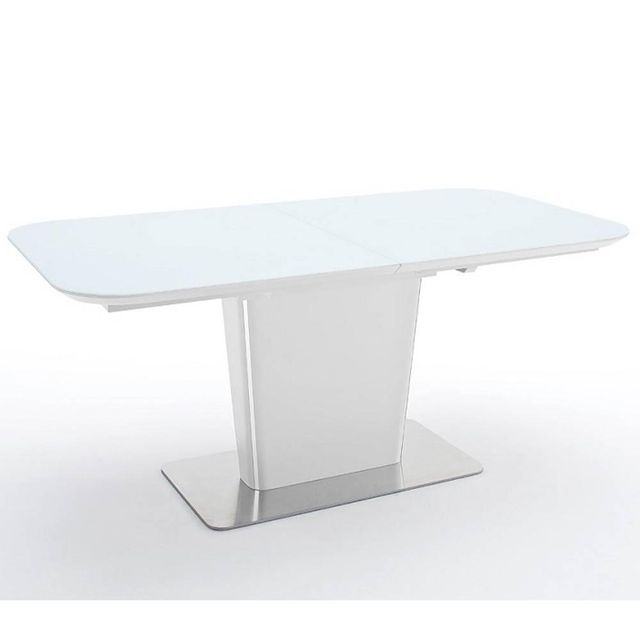 Inside 75 Table repas extensible design Uma 140cm blanche