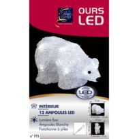 Jja - Ours lumineux couché 12 Led