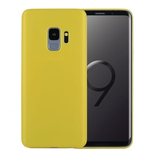 coque jaune samsung s9