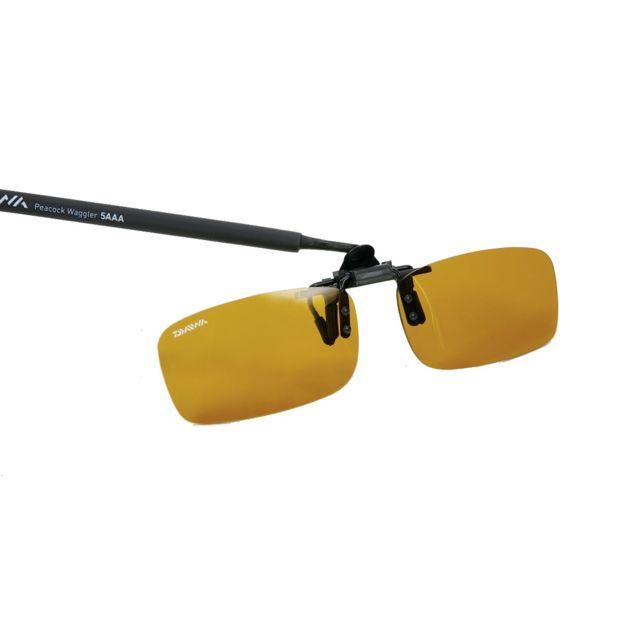 Daiwa - Clip de lunettes polarisant Daiwa N°4 Gris mate verres jaunes 30903f219bf1