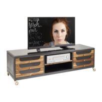 Meuble tv haut roulettes achat meuble tv haut roulettes for Meuble tv rue du commerce
