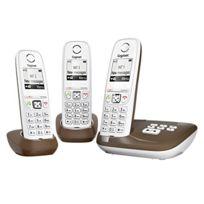 Gigaset - As405A Trio Téléphone sans fil Dect/GAP avec Répondeur Chocolat