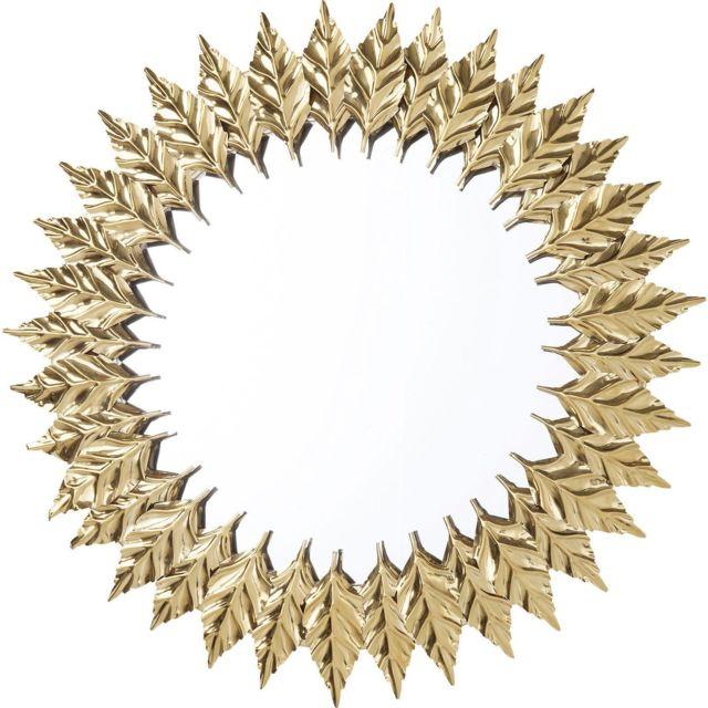 Karedesign Miroir Feuilles dorées 76cm Kare Design