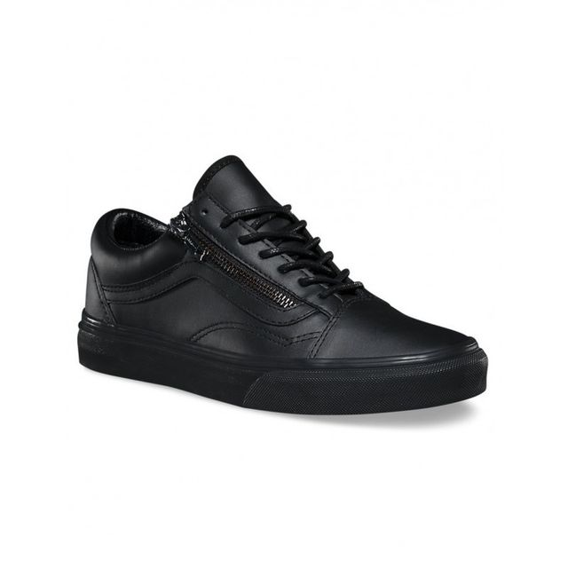 Vans Chaussures U Old Skool Zip Gunmetal Black Black