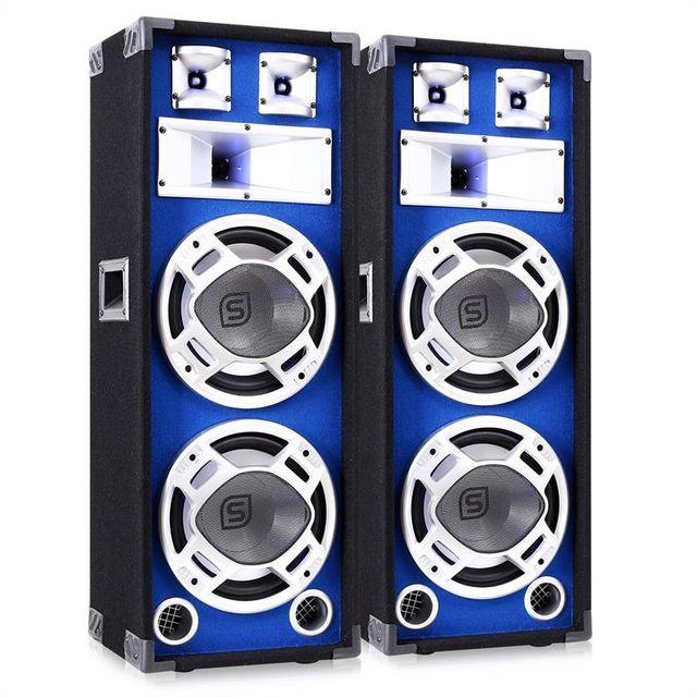 SKYTRONIC Paire d?Enceintes Sono Passives DJ PA disco basses 1600W