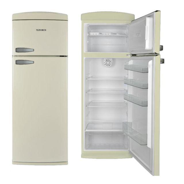 Telefunken - Tfnvin304CRM Réfrigérateur congélateur 2 portes Creme