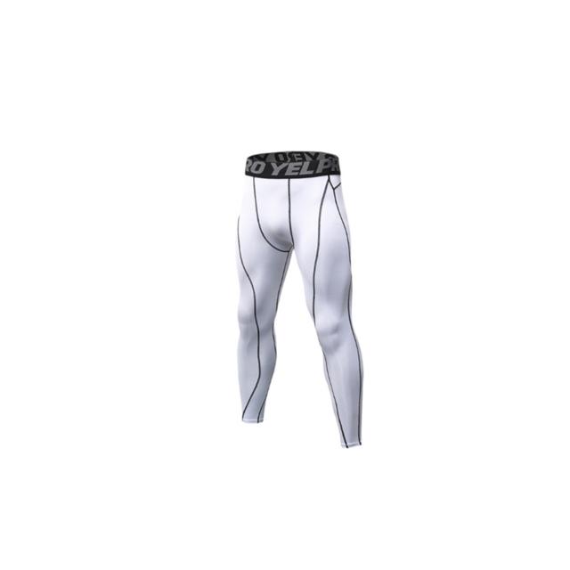 >YP Select Pantalon de compression pour homme Baselayer Cool Dry Sports Tights Leggings - Blanc XL