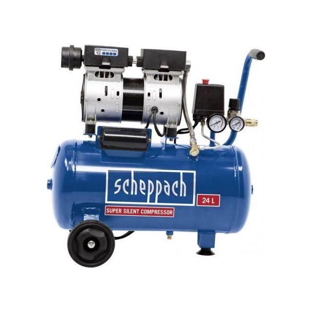 9f98200e530ee9 ... Scheppach - Compresseur pneumatique silencieux 24 litres Scheppach  Hc24SI ...