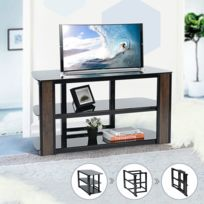 Meuble Tv Pliant Verre Noir étagère