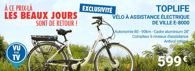 Vélo à assistance électrique de ville E-8000
