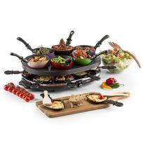 ONECONCEPT - Woklette Grill Raclette Set Wok antiadhésif 1200 W 8 personnes