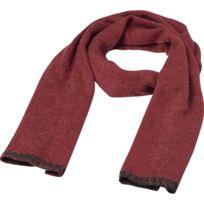 Echarpe traditionnelle - Mb7305 - rouge et gris anthracite mélange c54d3334b1c