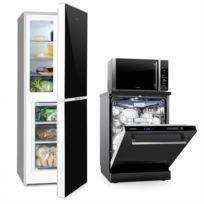 KLARSTEIN - Set Combi Réfrigérateur Frigo Congélateur Micro-ondes Lave-vaisselle