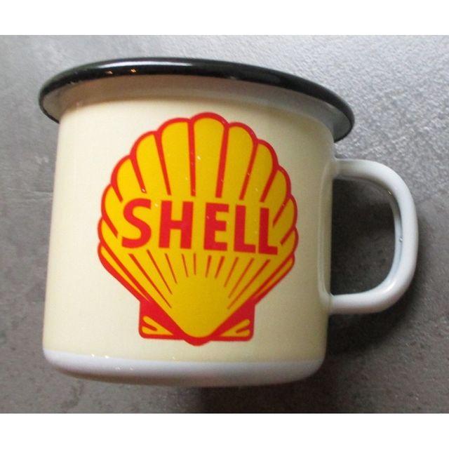 Universel Mug shell coquillage en email tasse à café emaillée huile