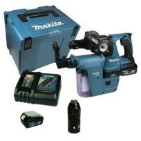 Makita - Marteau perforateur Dhr243RTJV à batteries Lxt 18V Sds-plus avec extraction 2x5Ah